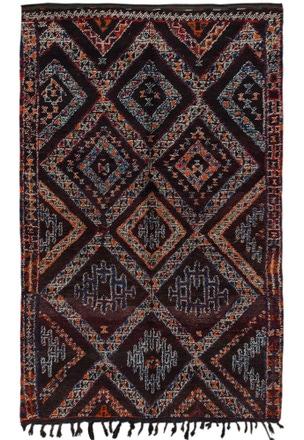 Vintage Beni Ourain Moroccan - 44259